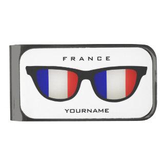 フランス語はカスタムなお金クリップを影で覆います ガンメタルマネークリップ