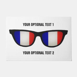 フランス語はカスタムなドア・マットを影で覆います ドアマット