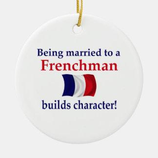 フランス語はキャラクターを造ります セラミックオーナメント
