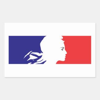 フランス語マリアンヌ 長方形シール
