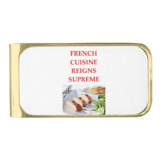 フランス語 ゴールド マネークリップ