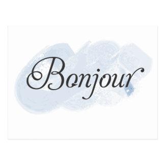 フランス語Bonjour ポストカード