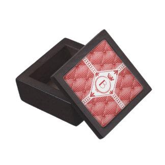 フランス語Trompe - l ' oeilは赤いダイヤモンドのモノグラムを房状にしていました ギフトボックス