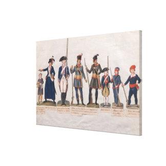 フランス革命のキャラクター キャンバスプリント