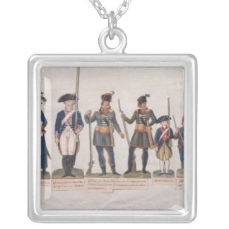 フランス革命のキャラクター シルバープレートネックレス