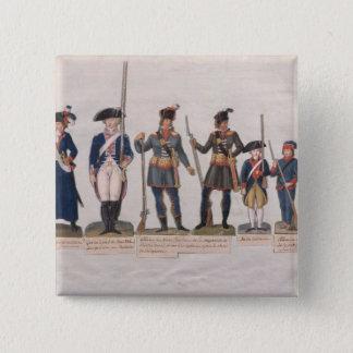 フランス革命のキャラクター 5.1CM 正方形バッジ