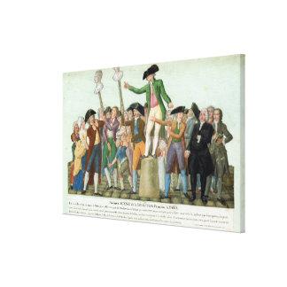 フランス革命の始め キャンバスプリント