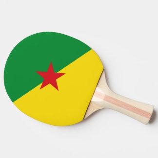フランス領ギニアの旗 卓球ラケット