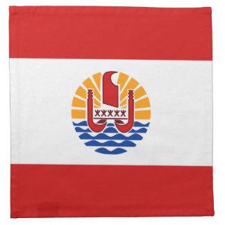 フランス領ポリネシアの旗のナプキン ナプキンクロス