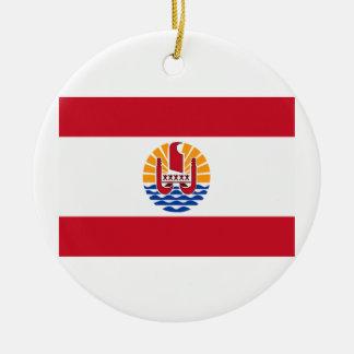 フランス領ポリネシアの旗 セラミックオーナメント