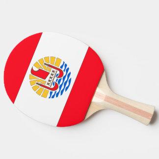 フランス領ポリネシアの旗 卓球ラケット