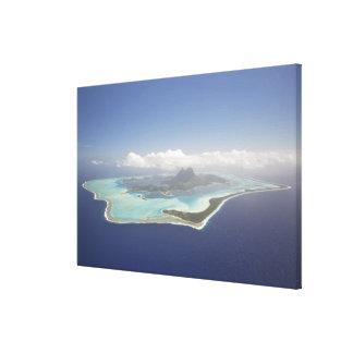 フランス領ポリネシア、タヒチ、Bora Bora。 キャンバスプリント