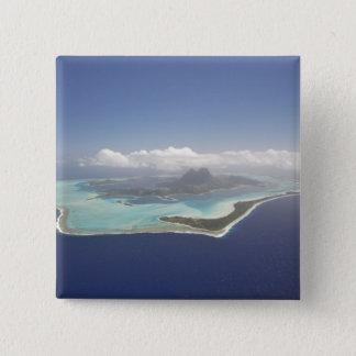 フランス領ポリネシア、タヒチ、Bora Bora。 5.1cm 正方形バッジ