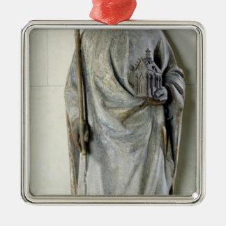 フランス1365-80年のチャールズV王の彫像 メタルオーナメント