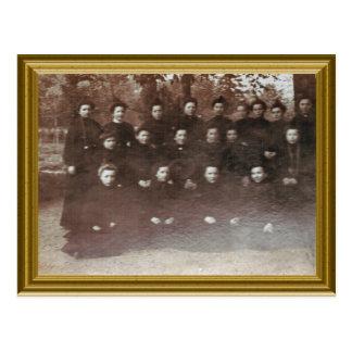 フランス1890年、初心者の尼僧 ポストカード