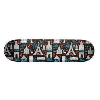 フランス|の記号パターン スケートボード