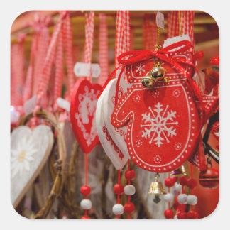 フランス、アルザス、コルマール。 クリスマスの市場 スクエアシール
