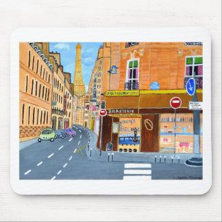 フランス、パリの通りドミニック マウスパッド