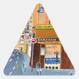 フランス、パリの通りドミニック 三角形シール