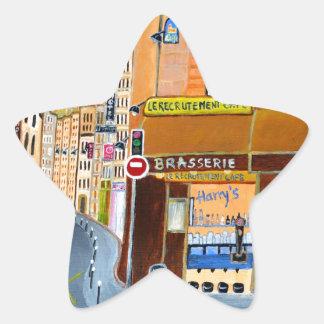 フランス、パリの通りドミニック 星シール