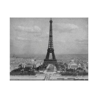 フランス、パリエッフェル塔、レトロの写真 キャンバスプリント