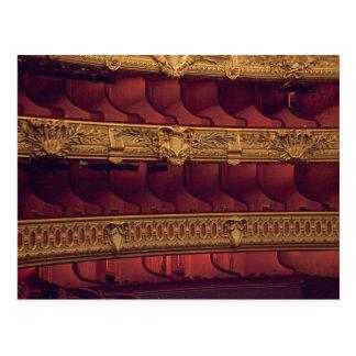 フランス、パリ。 バルコニーの座席の部分的な概観 ポストカード