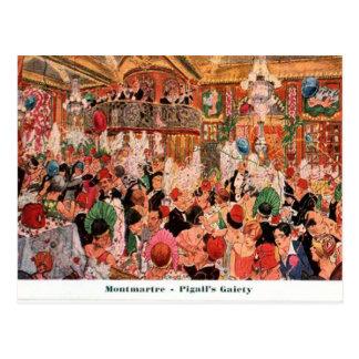 フランス、パリ、MontmatreのPigallの華美1920年 ポストカード