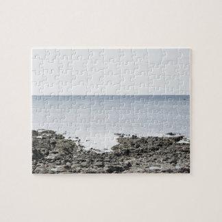 フランス、ブリッタニー、荒磯および海 ジグソーパズル