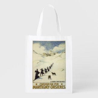 フランス-修道士のスキー エコバッグ