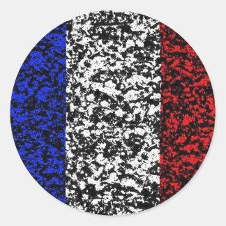 フランス-旗 ラウンドシール