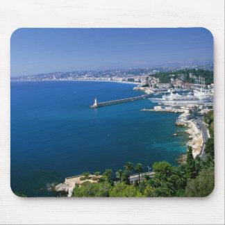 フランス、港のニース、空中写真 マウスパッド