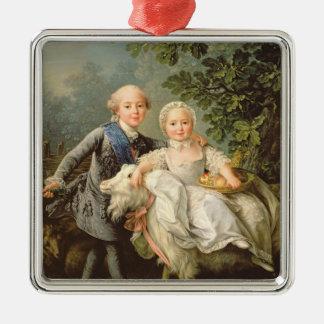 フランス(1757-1836年)のチャールズPhilippeのポートレート シルバーカラー正方形オーナメント