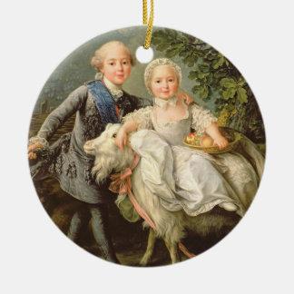 フランス(1757-1836年)のチャールズPhilippeのポートレート 陶器製丸型オーナメント