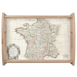 フランス(1771年)のヴィンテージの地図 トレー