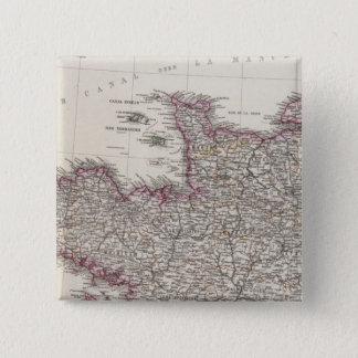 フランス、4つの葉、葉1 5.1CM 正方形バッジ