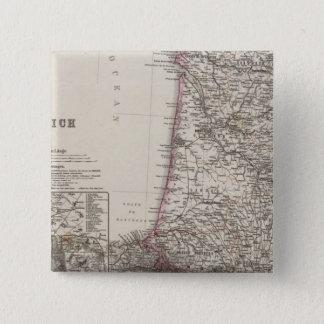 フランス、4つの葉、葉3 5.1CM 正方形バッジ