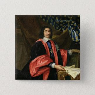 フランス、c.1668のピエールSeguierの一等書記官 5.1cm 正方形バッジ
