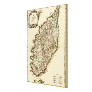 フランスBoundriesの地図 キャンバスプリント
