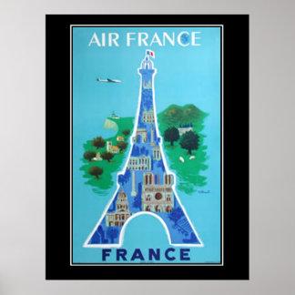 フランスEifelタワー旅行ヴィンテージポスターフランス語 ポスター