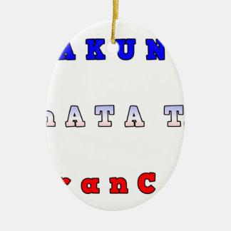 フランスHAKUNA MATATAの青く白く赤い単一性はTを着色します セラミックオーナメント