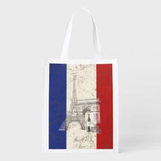 フランスID156の旗そして記号 エコバッグ