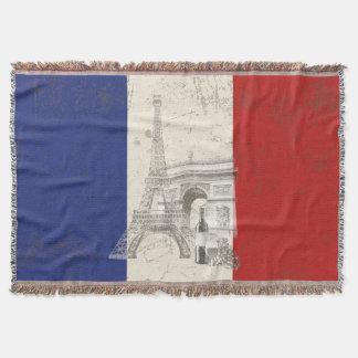 フランスID156の旗そして記号 スローブランケット