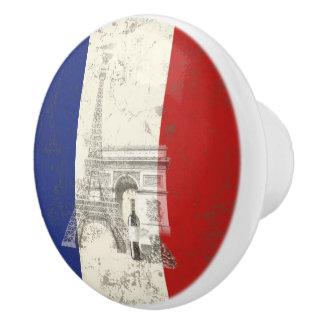 フランスID156の旗そして記号 セラミックノブ