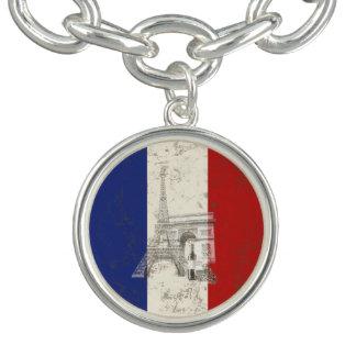 フランスID156の旗そして記号 チャームブレスレット