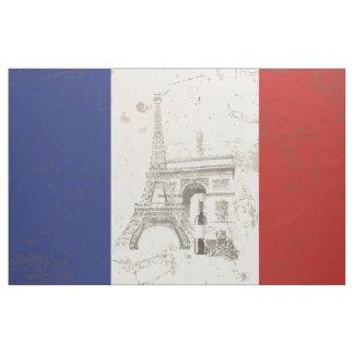 フランスID156の旗そして記号 ファブリック