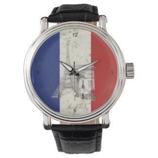 フランスID156の旗そして記号 腕時計