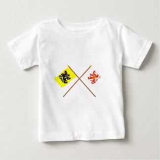 フランダースおよびリンブルフの交差させた旗 ベビーTシャツ
