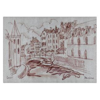 フランダースの建築|ゲント、ベルギー カッティングボード