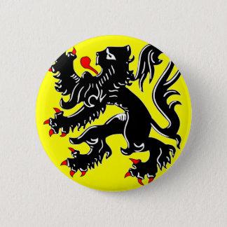 フランダース、ベルギーの旗 5.7CM 丸型バッジ