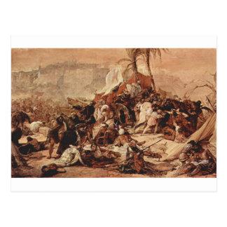 フランチェスコ著エルサレムに対する第7回十字軍 ポストカード
